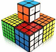 economico -Set Speed Cube 4 pcs Cubo magico Cube intuitivo 2*2*2 3*3*3 4*4*4 Cubo a pazzle Cubo puzzle 3D Anti-stress Cubo a puzzle Senza adesivo Liscio Giocattoli per ufficio Per bambini Adulto Giocattoli