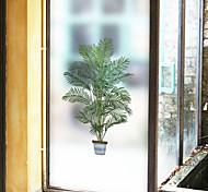 abordables -givré vie privée vert pot arbre motif fenêtre film maison chambre salle de bains verre fenêtre film autocollants auto-adhésif autocollant 116 * 60 cm