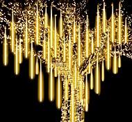 economico -50 cm 100-240 v pioggia di meteoriti all'aperto pioggia 16 tubi luci a led a led impermeabili per la decorazione della festa nuziale di natale per gli alberi di natale decorazione di halloween