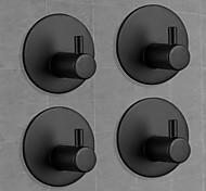 economico -ganci autoadesivi, ganci neri per accappatoio da cucina per carichi pesanti, porta asciugamani, gancio da parete appiccicoso, ganci per asciugamani da bagno - 4 confezioni (nero opaco)