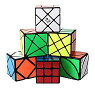 abordables -Ensemble de cubes de vitesse 6 pcs Cube magique Cube QI 3*3*3 Pack Speedcubing Cube de puzzle 3D Anti-Stress Casse-tête Cube Sans étiquettes Lisse Jouets de bureau Moulin à vent Lierre Fausser Enfant