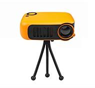 abordables -mini projecteur portable 320 * 240p prend en charge 1080p lcd 50000 heures de vie de la lampe projecteur vidéo de cinéma maison pour batterie externe prise EU / US