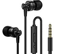 """economico -LITBest D11 Auricolari in-ear cablato """"Jack audio da 3,5 mm"""" Dotato di microfono Con il controllo del volume sweatproof per Apple Samsung Huawei Xiaomi MI per audio premium"""
