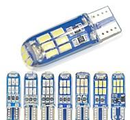 abordables -10 pcs W5W T10 LED T10 LED LED 194168 W5W Gel De Silice 15smd LED Ampoule De Parking Auto Cale Dégagement Lampe Canbus