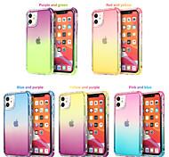 economico -telefono Custodia Per Apple Per retro iPhone 12 Pro Max 11 Pro Max Traslucido Colore graduale e sfumato TPU