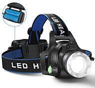 abordables -Lampes Frontales Phare Avant de Moto 5000 lm LED LED Émetteurs 1 Mode d'Eclairage Contrôle d'angle Ultra léger Camping / Randonnée / Spéléologie Cyclisme Chasse Royaume-Uni AU EU Etats-Unis