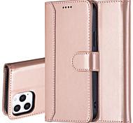 economico -telefono Custodia Per Apple Integrale Custodia in pelle Porta carte di credito iPhone 12 Pro Max 11 SE 2020 X XR XS Max 8 7 6 A portafoglio Tinta unica pelle sintetica