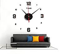 abordables -miroir numérique montre bricolage calme acrylique canapé mur fond décoration horloge à quartz zb007