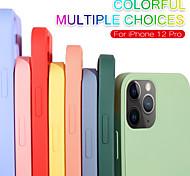 economico -telefono Custodia Per Apple Per retro Silicone iPhone 12 Pro Max 11 SE 2020 X XR XS Max Effetto ghiaccio Tinta unica Silicone