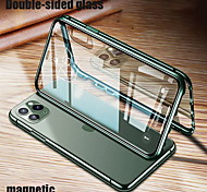 abordables -téléphone Coque Pour Apple Coque Intégrale iPhone 12 iPhone 12 Pro Max iPhone 12 Pro iPhone 12 Mini Antichoc Transparente Double Face Transparente Métal