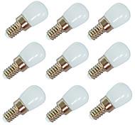 abordables -9pcs 2 W Ampoules Globe LED 100 Lm E14 E12 T22 6 Perles LED SMD 2835 Blanc Chaud Blanc 220-240 V