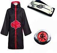 abordables -Inspiré par Naruto Akatsuki Hidan Manga Costumes de Cosplay Japonais Costumes de Cosplay Plus d'accessoires Imprimé 1 Bague Manteau Bandeau Pour Homme