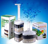 abordables -Filtre à bulles d'air d'aquarium d'angle de réservoir réutilisable sous le filtre de pilote d'air de l'eau éponge interne filtre à bulles d'air super