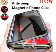 economico -telefono Custodia Per Apple Integrale Custodia ad adsorbimento magnetico iPhone 12 Pro Max 11 SE 2020 X XR XS Max 8 7 Con chiusura magnetica A calamita Anti peep Tinta unica Vetro temperato Metallo