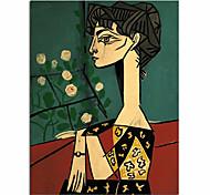 abordables -100% peint à la main peinture à l'huile moderne visage abstrait picasso mur art photos mode nordique style salon toile peinture personnalisé