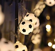 economico -led palloni da calcio stringa ghirlanda decorazione camere da letto casa festa a tema natale decorativo calcio luci fiabesche batteria