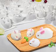 abordables -3D lapin lapin de pâques silicone moule mousse dessert moule outils de décoration de gâteau gelée cuisson bonbons chocolat crème glacée moule