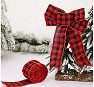 economico -decorazioni natalizie 2 metri di lattice nastro reticolo cravatta albero decorazione