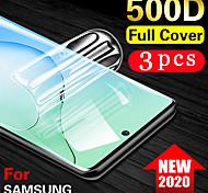 economico -telefono Proteggi Schermo Samsung S20 S20 Plus S20 ultra S9 S9 Plus TPU idrogel 3 pezzi Alta definizione (HD) A prova di esplosione Compatibile con 3D touch Proteggi-schermo frontale Appendini per