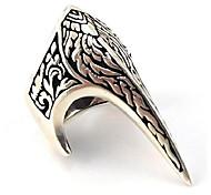 economico -fang gothic biker retro 925 stelring argento anello per il pollice da uomo di lusso fatto a mano turco (9)