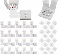 economico -40pcs connettori per strisce luminose a led 10mm senza fili a 4 pin rgb kit di connettori per luci LED12 connettori gapless6 connettori a forma di l per smd 5050 striscia led multicolore 12v-24v con