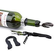 economico -4 pezzi / set apri vino rosso versatore in acciaio inox anello per vino tappo per bottiglia coltello cavalluccio marino apribottiglie per vino gadget