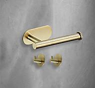 economico -3 pezzi di hardware per il bagno set 3m adesivo a forte viscosità accessori per il bagno montaggio a parete gancio per asciugamani porta fazzoletti ad alta resistenza senza unghie in acciaio inossidabile nero opaco spazzolato oro