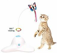 abordables -Electrique Rotation à 360 ° Petits Animaux à Fourrure Jouet pour Chat Rotatif Papillon Coloré Automatique Interactif Plumes PP+ABS Cadeau Jouet pour animaux de compagnie Jeu d'animaux