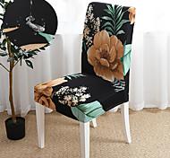 abordables -Floral et feuilles impression super doux housse de chaise imperméable extensible amovible lavable salle à manger chaise protecteur housses décor à la maison salle à manger housse de siège