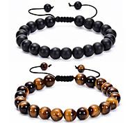 abordables -Pierre naturelle lave rock perle bracelet hommes chakra bracelet femmes yoga extensible diffuseur bracelet