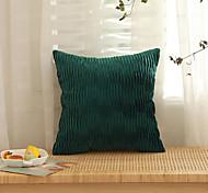 abordables -housse de coussin flanelle velours doux décoratif carré housse de coussin taie de coussin taie d'oreiller pour canapé chambre 45 x 45 cm (18 x 18 pouces) qualité supérieure lavable en mashine