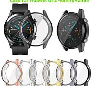 abordables -étui de protection d'écran pour montre huawei gt2 46mm 42mm tpu housse de protection pour pare-chocs robuste tout autour de protection plaquée accessoires de coque de pare-chocs compatible