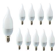 abordables -10 pcs E14 LED Ampoule De Bougie LED Lumière Lustre Lampe Bougie Ampoules 3 W Lampes Décoration Lumière Chaud Cool Blanc Économie D'énergie