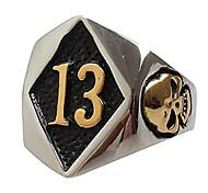 economico -acciaio inossidabile da uomo n. 13 anello motociclista moto teschio malvagio oro taglia 8