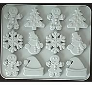 economico -pan di zenzero fiocco di neve giorno di natale cioccolato stampo in silicone biscotto caramelle integratore alimentare stampo per torta di zucchero di canna