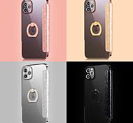 economico -telefono Custodia Per Apple Integrale Custodia in pelle iPhone 12 Pro Max 11 SE 2020 X XR XS Max 8 7 Placcato Supporto ad anello Con chiusura magnetica Tinta unica Glitterato pelle sintetica TPU