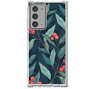 abordables -Feuille Cas Pour Samsung Galaxy S21 Galaxy S21 Plus Galaxy S21 Ultra Modèle unique Étui de protection Antichoc Coque TPU