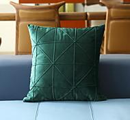 economico -fodera per cuscino in pelle scamosciata reticolo tinta unita decorativo quadrato copriletto federa federa per divano camera da letto 45 x 45 cm (18 x 18 pollici) qualità superiore lavabile in