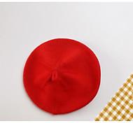 economico -1pcs Bambino / Bambino (1-4 anni) Unisex Attivo Rosso Tinta unita Lavorato a maglia Punto roma Cappelli e berretti Viola / Rosso / Giallo Taglia unica