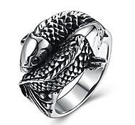 economico -anelli in acciaio inossidabile di design carpa koi per uomo gioielli da uomo chic punk fish