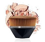 abordables -fond de teint brosse de maquillage kabuki face blush poudre liquide brosse supérieure plate pour mélanger la crème liquide cosmétiques en poudre sans défaut avec étui de protection bonus& # 40;