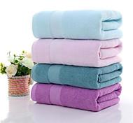 abordables -Qualité supérieure Serviette de bain, Couleur Pleine Pur coton 1 pcs / Lavage en machine délicat à basse température, ne pas javelliser, ne pas nettoyer à sec