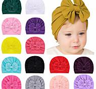 economico -1 pz Bambino (1-4 anni) / Bebè Da ragazza Essenziale Nero / Bianco / Blu Tinta unita Con fiocco Elastene / Cotone Accessori per capelli Bianco / Nero / Blu Taglia unica