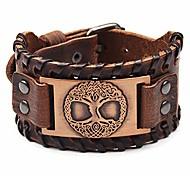 abordables -bracelet viking bracelet réglable - bracelet en cuir pour homme fait main avec amulette nordique - bijoux arbre de vie
