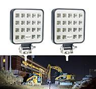 abordables -2pcs 4 pouces 9V-30V 57W 6000K 19 SMD LED Barre de lumière de travail Spot Faisceau de lumière de conduite antibrouillard feu de course pour voiture camion SUV hors route