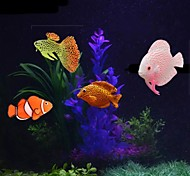economico -Acquario Decorazioni Acquario Vasca per i pesci Pesce finto Arcobaleno Divertente Materiale speciale 4 pezzi 2 cm