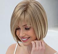 abordables -perruque synthétique droite bob perruque courte brun foncé brun cheveux synthétiques conception à la mode des femmes surligné / balayage cheveux brun exquis