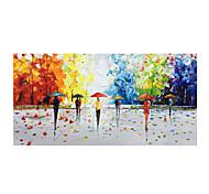 abordables -Peinture à l'huile Hang-peint Peint à la main Format Horizontal Abstrait Paysage Moderne Rideau (sans cadre)