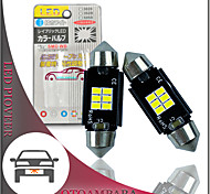 economico -otolampara 2pcs luce targa a led per auto 212-1 212-2 lampadina 6w 6000k lampadina a festone a led can-bus 31mm 36mm 39mm 41mm plug and play a risparmio energetico lampadina a led c5w colore bianco