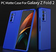 economico -telefono Custodia Per Samsung Galaxy Per retro Galaxy Z Fold 2 Resistente agli urti Ultra sottile Effetto ghiaccio Tinta unica PC